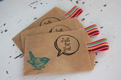 Just For You Paper Gift Sacks by janesaysshop, via Flickr