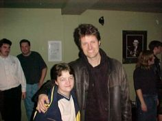 Manon wt Jim Cuddy back stage in 2001