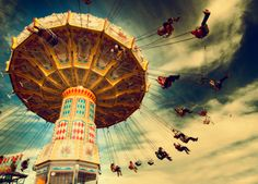 life is like a carousel so enjoy the ride and try not to puke Life Conceptual Photography, Art Photography, Creative Photography, Digital Photography, Fun Park, Carnival Rides, Merry Go Round, Favim, Life Is Like
