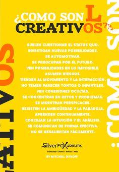 ¿Cómo son los creativos?
