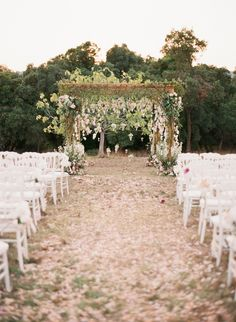 Outdoor Wedding Ceremonies - A destination wedding weekend in Provence, France that included an outdoor reception filled with shades of pink florals by Sabine Flowers and photography by Aneta Mak. Wedding Aisles, Wedding Canopy, Wedding Ceremony Decorations, Outside Wedding, Wedding Themes, Wedding Venues, Wedding Ideas, Wedding Ceremonies, Church Wedding