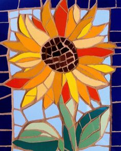 #mosaic #agapanthus #flowers #garden #mosaic #mosaicart Mosaic Crafts, Mosaic Projects, Stained Glass Projects, Stained Glass Patterns, Mosaic Patterns, Stained Glass Art, Mosaic Pots, Pebble Mosaic, Mosaic Garden
