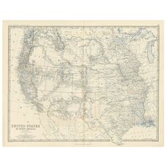 - Antique Map Of The United States Of North America 'West' . North America Map, South America, Map Of American States, West Map, British Books, World Map Art, United States Map, Wall Maps, State Map