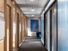 Haugaland Kraft, kontorbygg   JK Arkitektur Divider, Room, Furniture, Home Decor, Bedroom, Decoration Home, Room Decor, Rooms, Home Furnishings