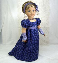 Regency Gown, hairpiece, & mitts by idreamofjeannemarie via eBay