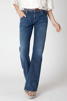 Great boot-cut jeans. A basic essential! Citizens Of Humanity Lazy Boot #anthropologie