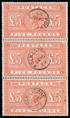 great history of this sought after stamp...£5 Orange Postage Stamps Stamp Collecting, Postage Stamps, Vintage World Maps, Victorian, Queen, Orange, History, Historia, Stamps