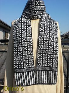 Ravelry: orino's sanquhar scarf