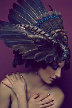Earthen Iridescence Headdress by serpentfeathers on deviantART