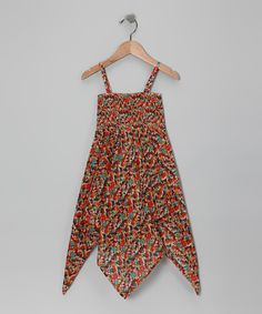 Look at this Orange Abstract Handkerchief Tunic - Girls on #zulily today!