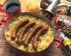 This fabulous and easy recipe for German Sausage and Sauerkraut is a simple one dish meal with wonderful flavors.