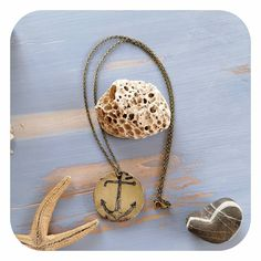 "Maritime Halskette ""Anker"" Bronze, Necklaces, Anchor Necklace"