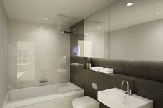 Red Lion Court EC4 - another fairly decent bathroom installed in a development.