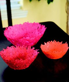 Create a bright and beautiful nesting bowl out of scrap paper