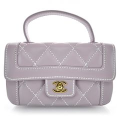 2822284ffbd0 This is an authentic CHANEL Surpique Flap Handbag Lilac. This chic baguette  is finely crafted