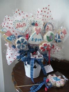 wedding cookie bouquet