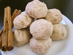 Polvorones are rich, short bread-like cinnamon cookies, also known as Mexican Wedding Cookies. @budgetbytes