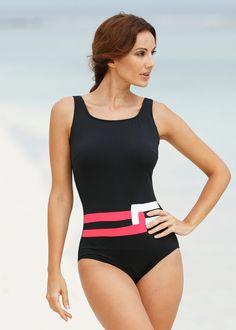 1483081b48238 Calypso Coral Mastectomy Swimsuit by Nicola Jane (9216). Black with a  stylish Calypso