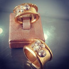 Goldplated Brass & silver Rings by Flora Lampadinou