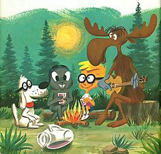 Rocky, Bullwinkle, Simon & Mr Peabody; I still have VHS videos of these classic cartoons...