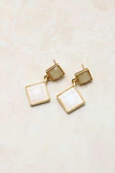 Iridescent Fialle Earrings on Emma Stine Limited