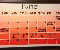 Paint strip calendar
