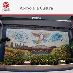 """El mural """"PALOMA"""" del artista valenciano Braulio Salazar fue realizado en nuestros hornos. Esta obra fue realizada en 1990 y esta ubicada en la Av. Universidad de la ciudad de #Valencia Edo. Carabobo. Sede del Diario El Carabobeño"""