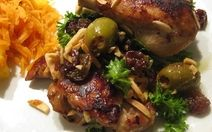 Lovely Legs Chicken with Almonds, Capers, Lemon, Raisins and Olives Recipe