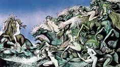theLivvydarling — Hans Arnold, 1925 – 2010 His iconic illustrations. Creepy Horror, Horror Art, John Bauer, Positive Art, Water Nymphs, Celtic Designs, Surreal Art, Sirens, Vintage Art