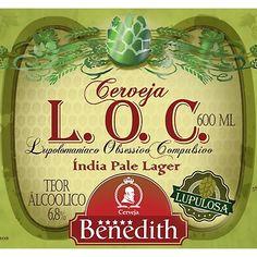 Cerveja Benedith L.O.C., estilo India Pale Ale (IPA), produzida por Benedith, Brasil. 6.8% ABV de álcool.