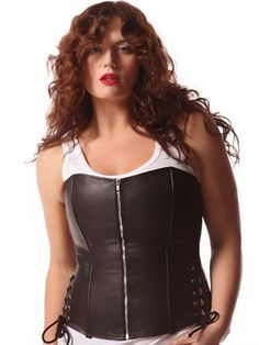 Leather Corset with Side Ties