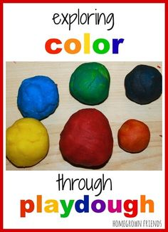 Exploring color through playdough from Homegrown Friends