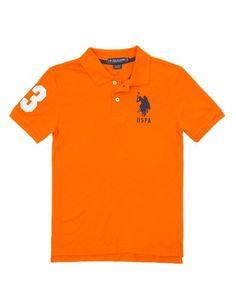 Boy's Big Logo Polo Shirt