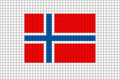 Flag of Sweden Pixel Art Loom Beading, Beading Patterns, Sweden Flag, Norwegian Flag, Modele Pixel Art, 8 Bit Art, Pixel Art Templates, Time To Celebrate, Friendship Bracelet Patterns
