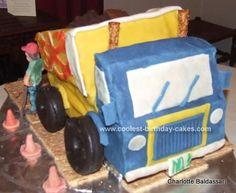 Homemade Birthday Cakes, Cool Birthday Cakes, Diy Birthday, Birthday Ideas, Birthday Dinners, Dump Truck Cakes, Monster Truck Birthday, Trucks And Girls, Cake Gallery
