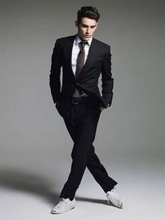 "Emily @ Falling for YA: ""I imagine Adrian would totally rock the suit and converse look at an award show."""
