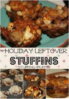 Holiday Leftover Stuffins- a muffin made with leftover stuffing!