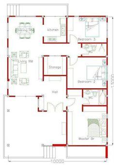 Unique House Plans, Free House Plans, Beautiful House Plans, House Layout Plans, Modern House Plans, House Layouts, Bungalow Floor Plans, Ranch House Plans, House Floor Plans
