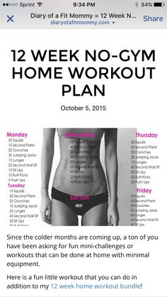12 week work out