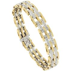 71% Off was $13,200.00, now is $3,828.00! 14k 2-Tone Gold 8.5 in. Men`s Pantera Bracelet, w/ 1.00 Carat Brilliant Cut Diamonds, 1/2 in (12mm) wide