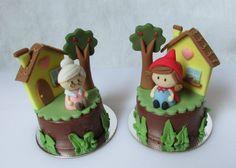 inspiração Fondant Toppers, Fondant Cakes, Cupcake Cakes, Take The Cake, Love Cake, Mini Tortillas, Barnyard Cake, Red Riding Hood Party, Farm Themed Party