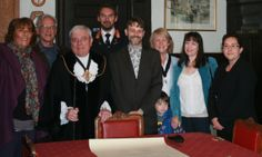 BASH with the Mayor, Deputy, Town Sergeant and Town Clerk, signing the twinning charter!