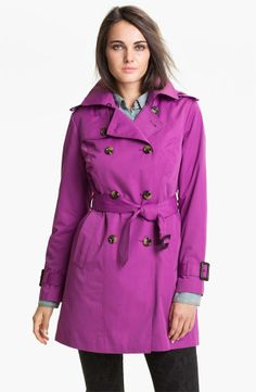 Sport a trench in the color of the year! #radiantorchid