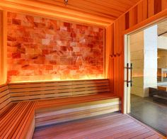 Am-Finn provides steam room & sauna design-build and installation services to health clubs, gyms and fitness industry. We supply sauna products, kits and accessories. Diy Sauna, Saunas, Salt Room Therapy, Himalayan Salt Room, Sauna Design, Design Design, Sauna Room, Basement Sauna, Chalets