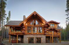 2013 Parade Home Moose Ridge Cabin Log Home traditional exterior