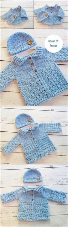 Best ideas for baby sweaters pattern - babys Baby Sweater Patterns, Crochet Poncho Patterns, Loom Knitting Patterns, Crochet Baby Sweaters, Crochet Baby Clothes, Baby Knitting, Crochet Bebe, Crochet For Boys, Knit Crochet