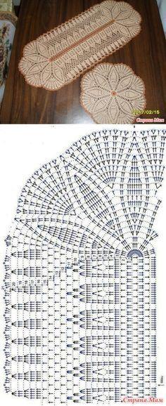 stranamam.ru Filet Crochet, Crochet Chart, Thread Crochet, Crochet Stitches, Crochet Mandala Pattern, Crochet Squares, Crochet Patterns, Crochet Table Runner, Crochet Tablecloth