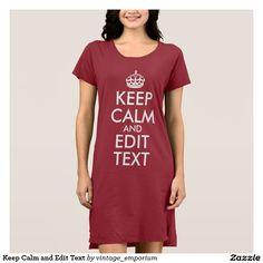 Keep Calm and Edit Text Dress