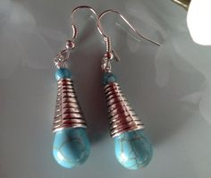 Check out this item in my Etsy shop https://www.etsy.com/listing/250420087/turquoise-earrings-boho-jewelry-silver