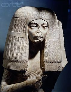 Nose Intentionally damaged The Wife of Nakhtmin ( son of Aye)--18thdynasty